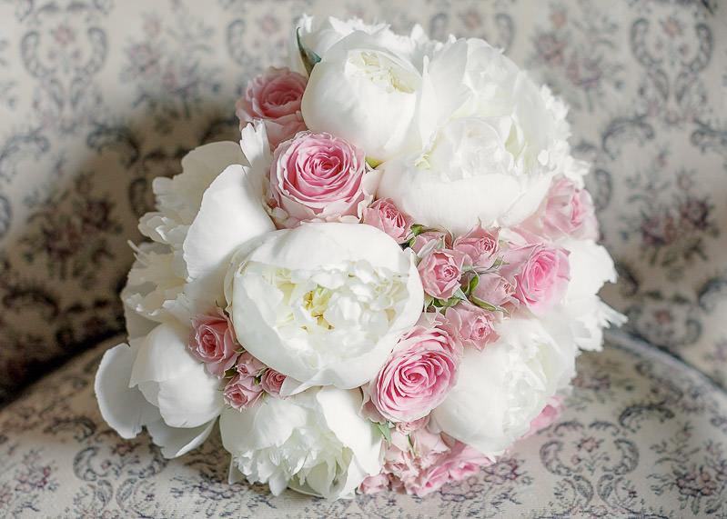 La bouquet de fleurs de la maiée