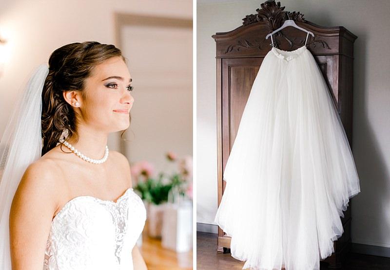 La mariée et la robe de mariée