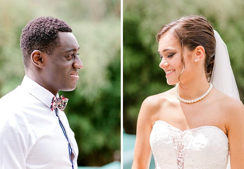 Les mariés de profil à gourdan
