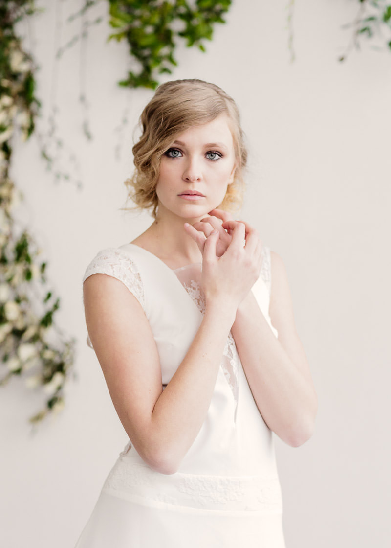 coiffure mariage avec robe de mariée