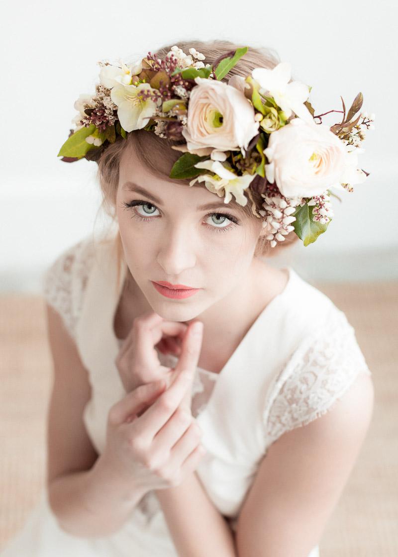 coiffure mariée en fleurs