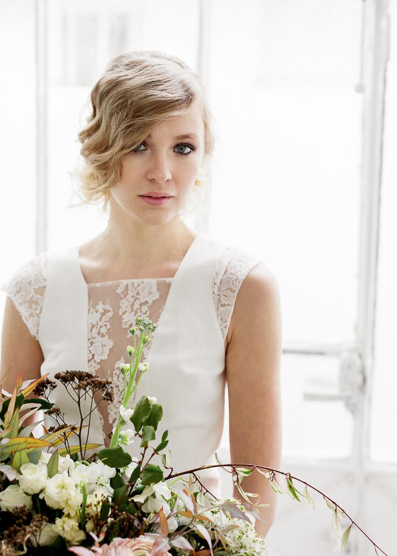 robe de mariée détail de la dentelle