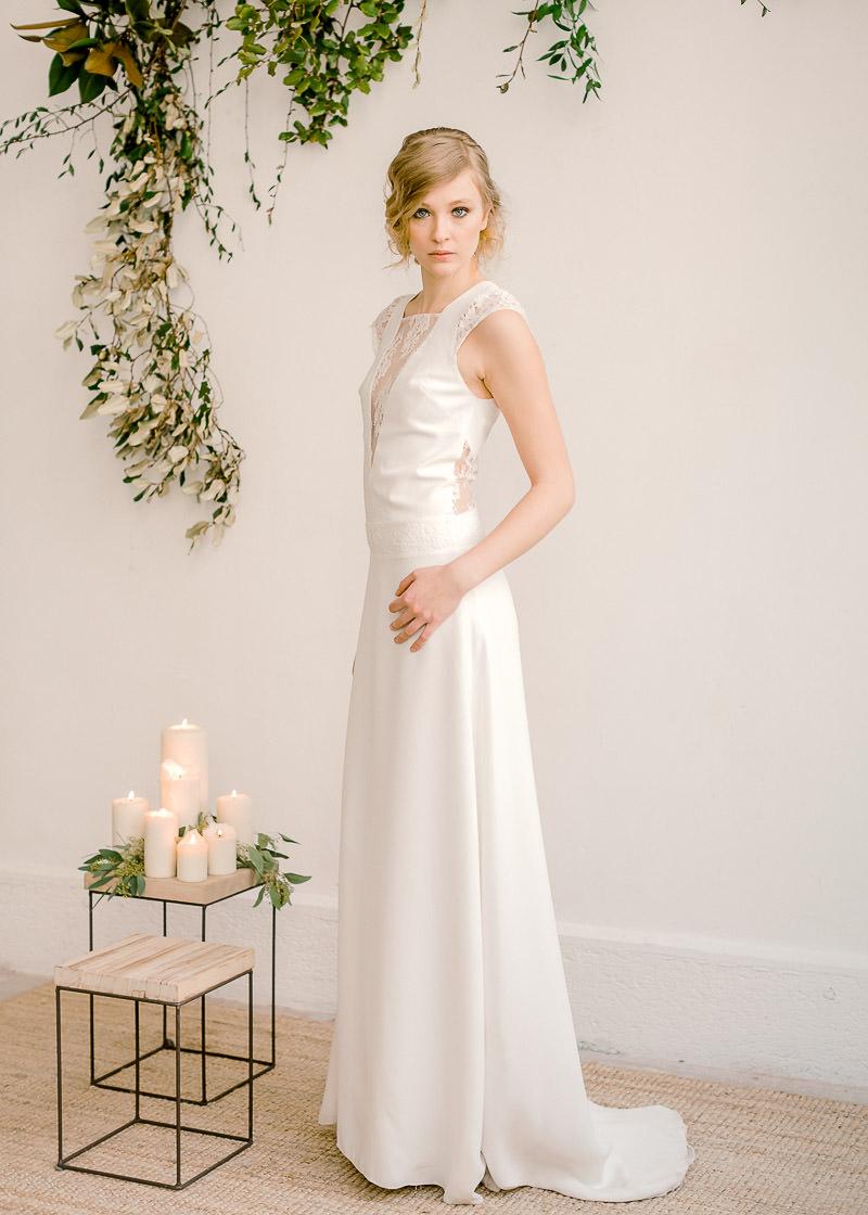 coiffure mariage et robe de mariée