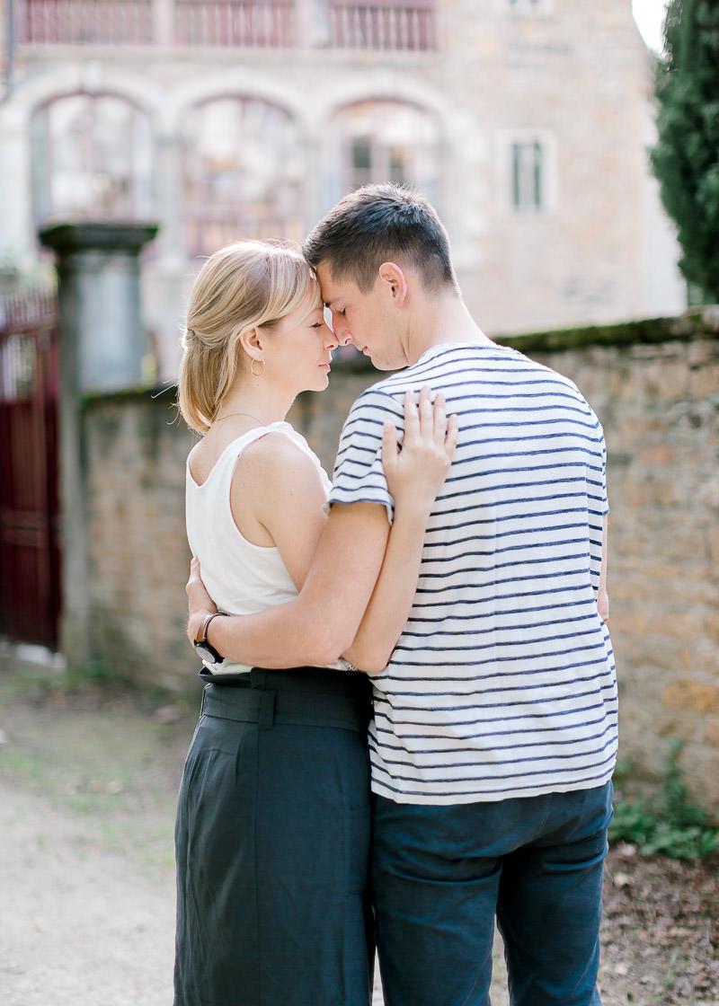 Couple de futur marié à Lyon