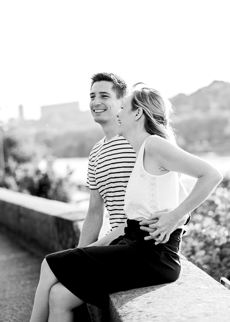 Photo noir & blanc shooting couple