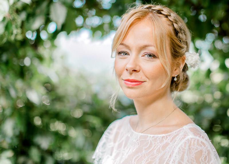 Portrait mariée au domaine genetière