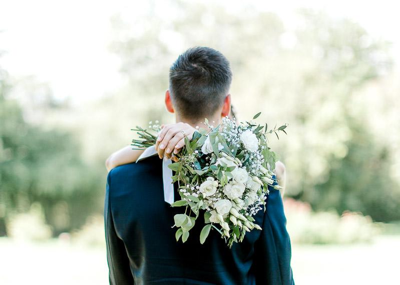 Le bouquet de fleurs de la mariée