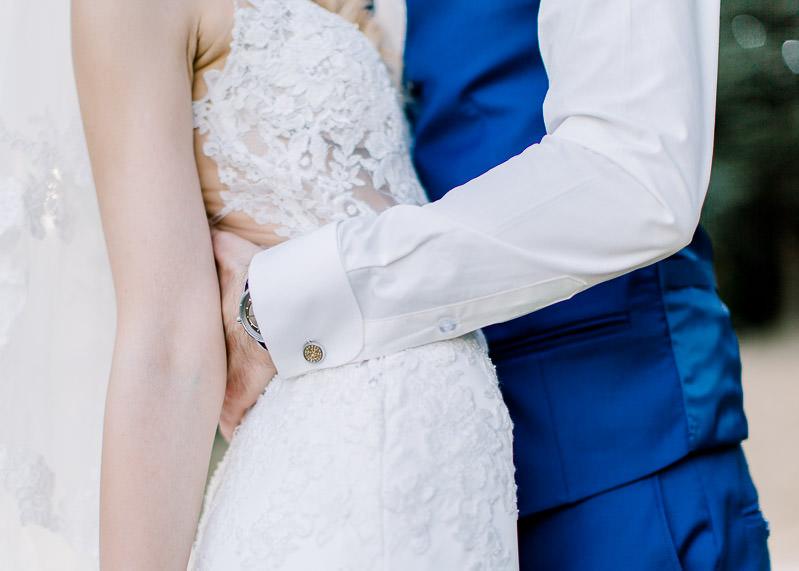 gros plan sur les mariés