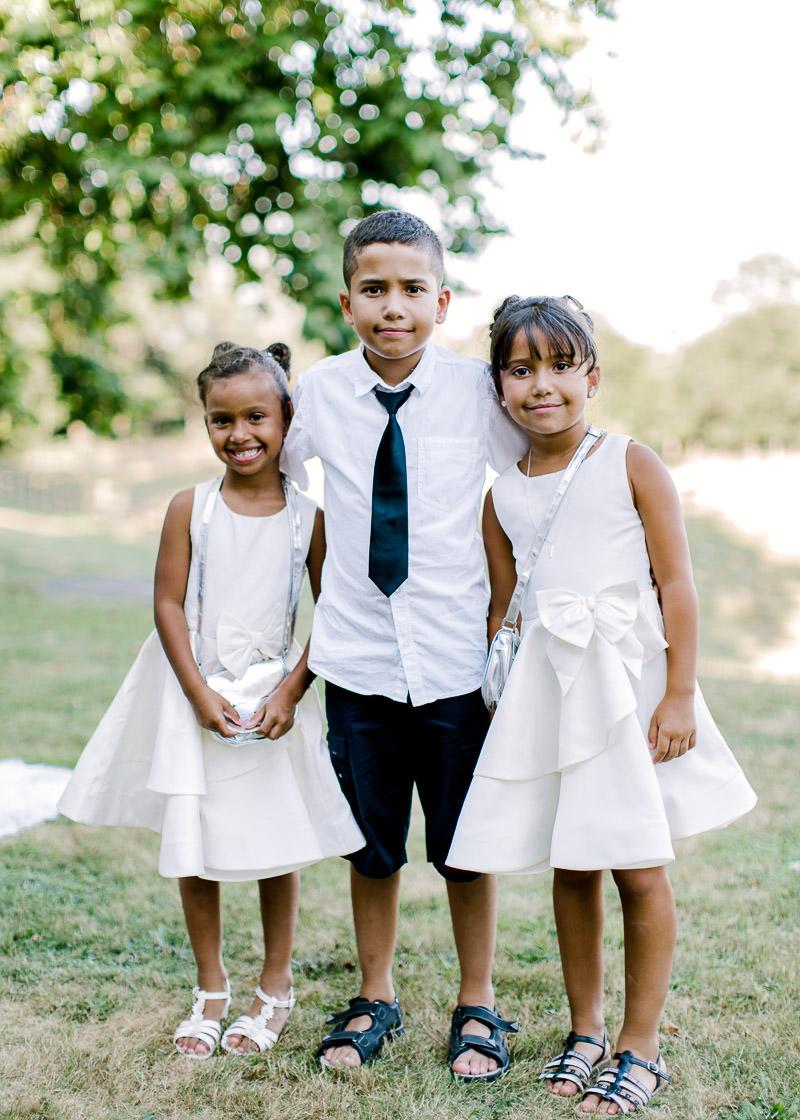 photo d'enfant au mariage