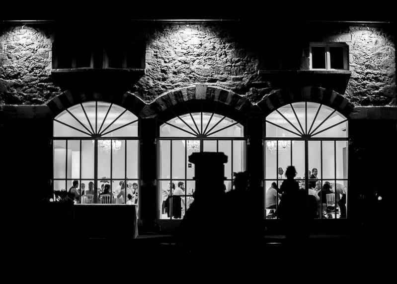 photo de nuit de l'orangerie, c'est la fête