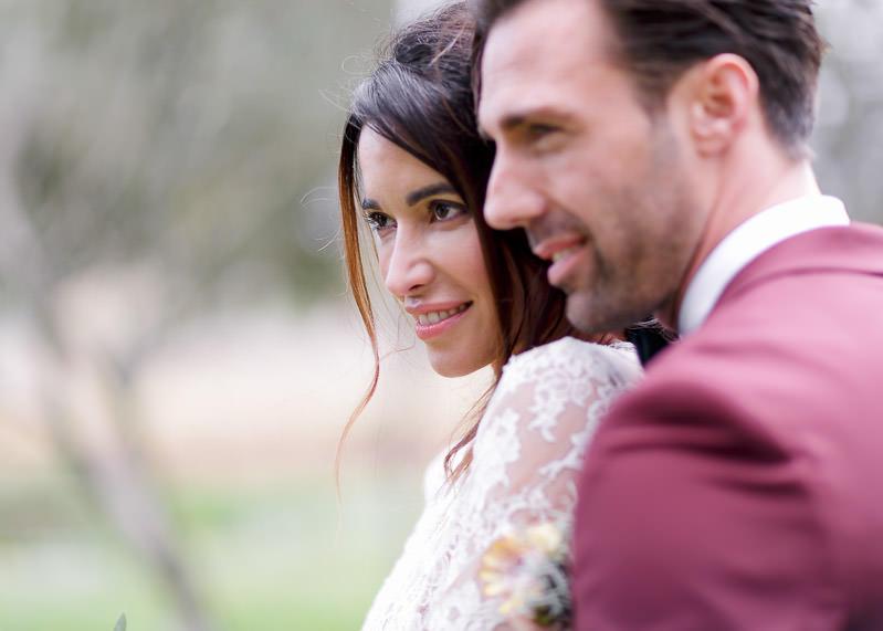 portrait des mariés au château de l'aumérade