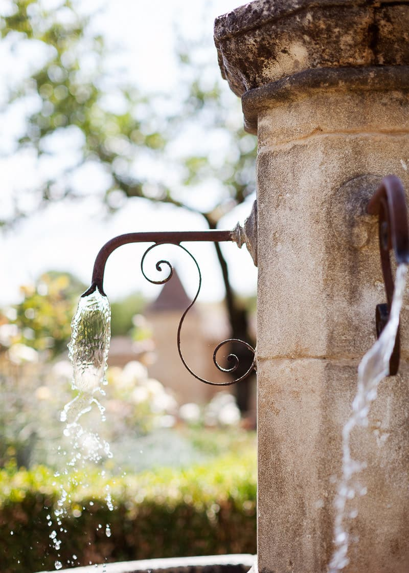 Fontaine chateau du sou lacenas mariage