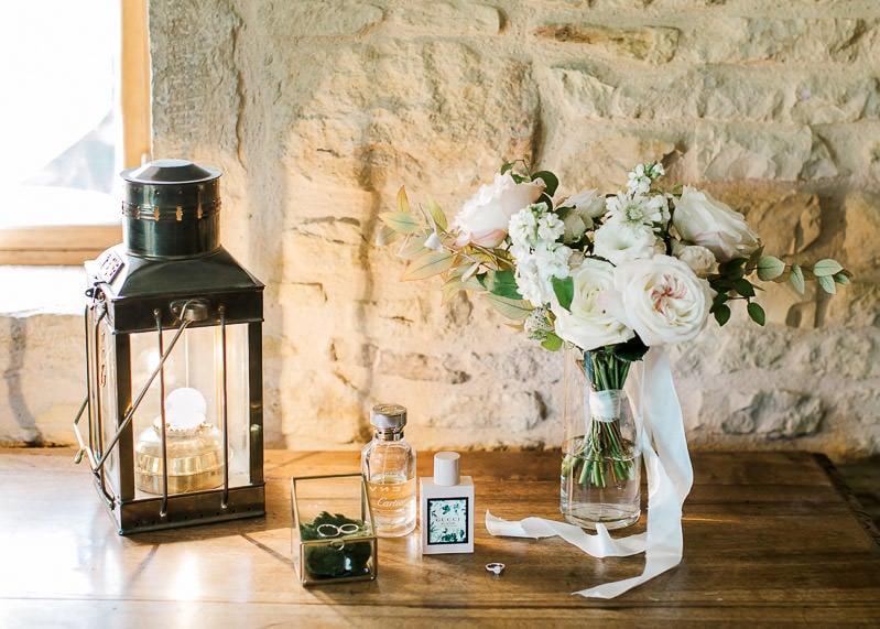 Bouquet de fleurs de la mariée au château du sou