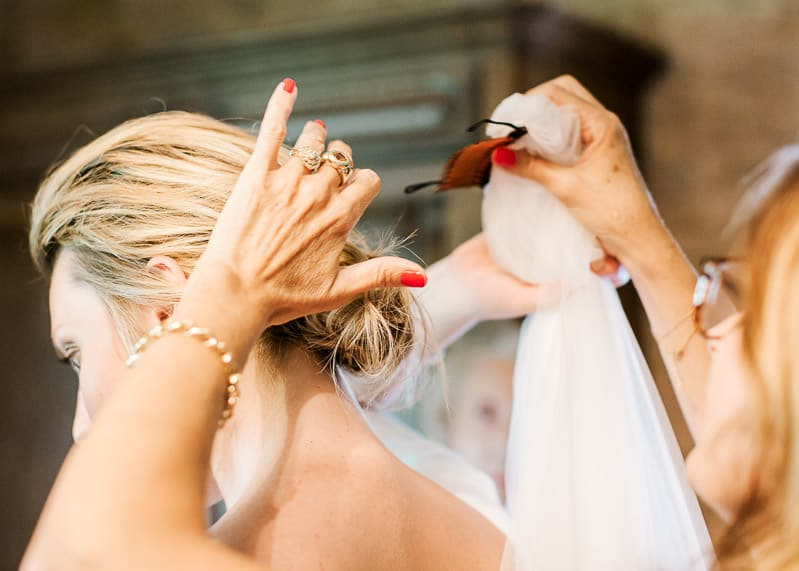 Voile de la mariée - mariage au château du sou