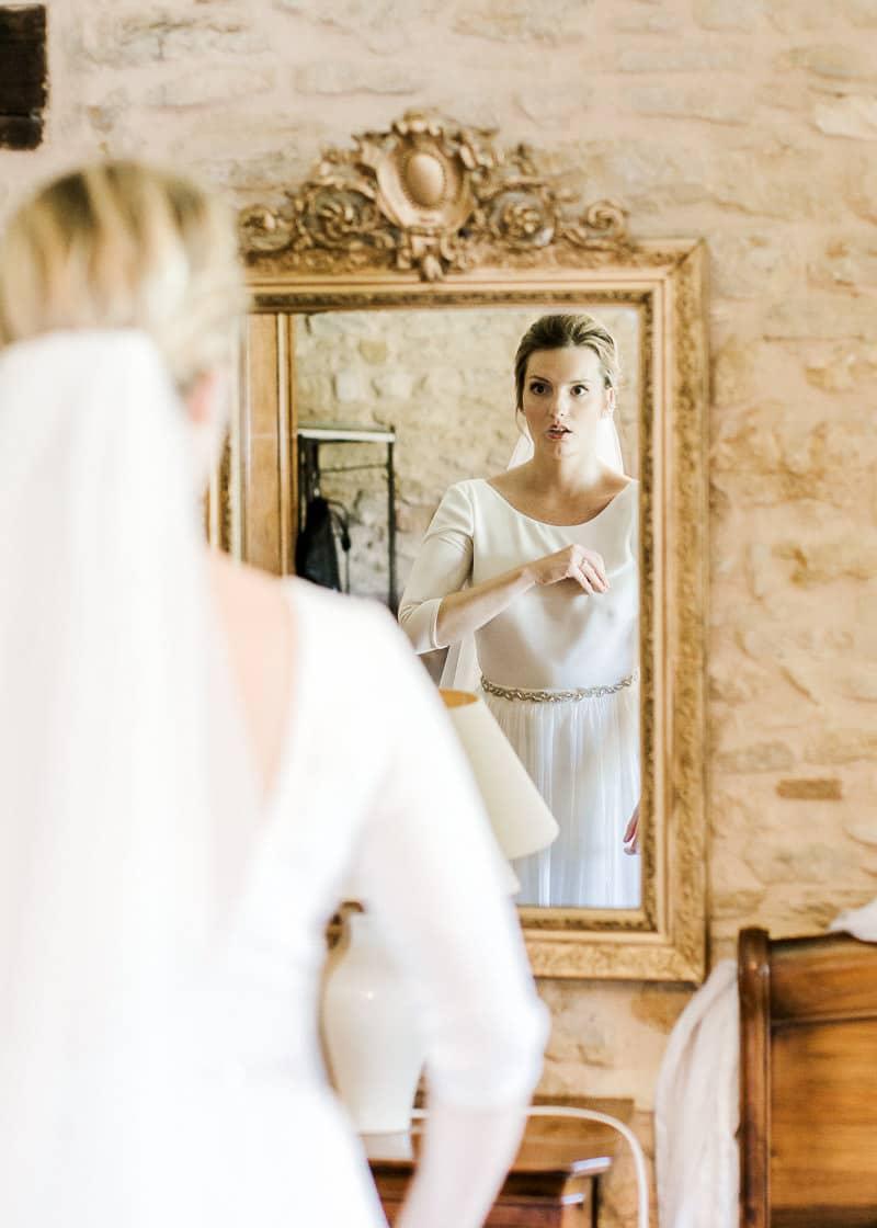 Le reflet de la mariée au château du sou