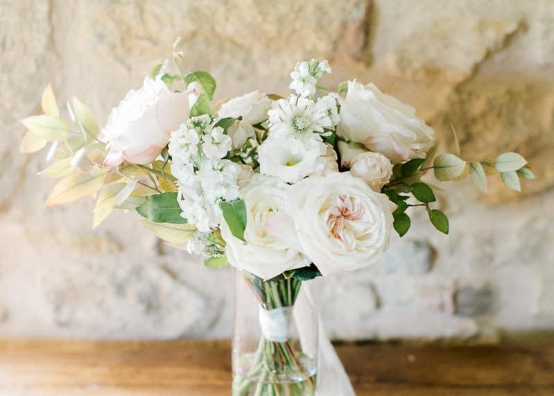 Bouquet de fleur mariée château du sou
