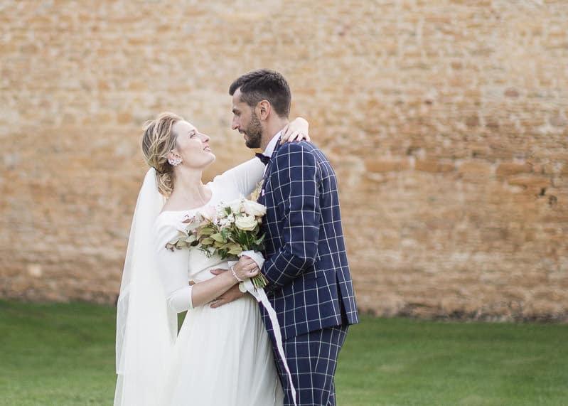 Mariée et marié au chateau du sou