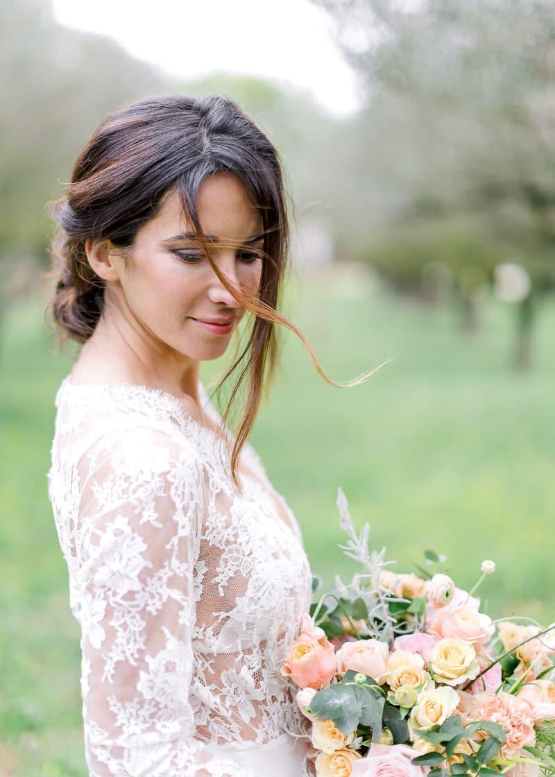 Photographe mariage rhone - Portrait d'une mariée