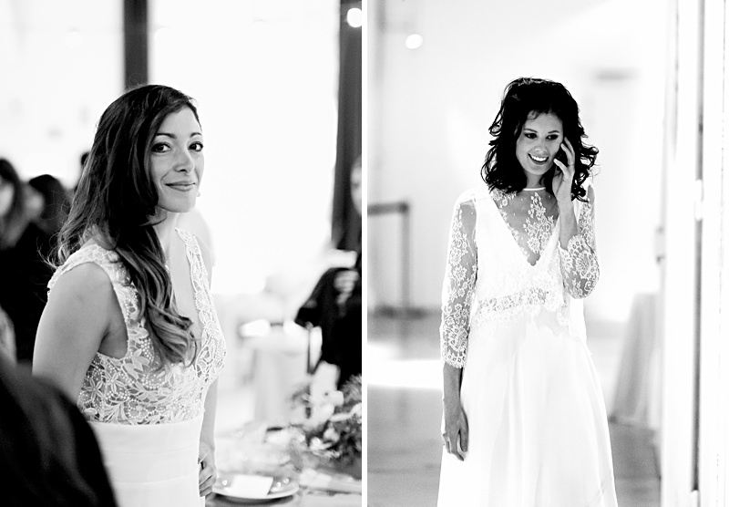 Noir et blanc de deux photo prisent au salon de l'amour l'amour la mode