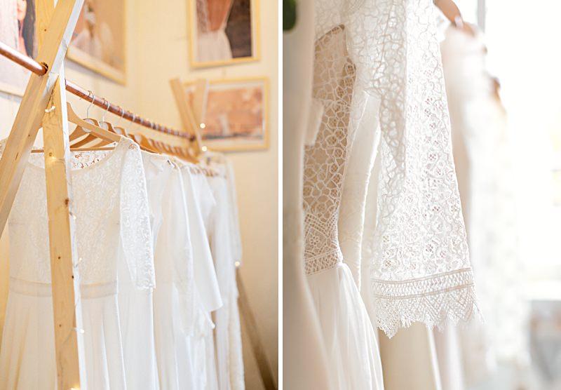 Détail de dentelle de robe de mariée au salon l'amour l'amour la mode