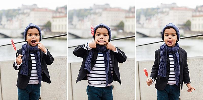 Photographe lifestyle Lyon - Grimace d'enfant