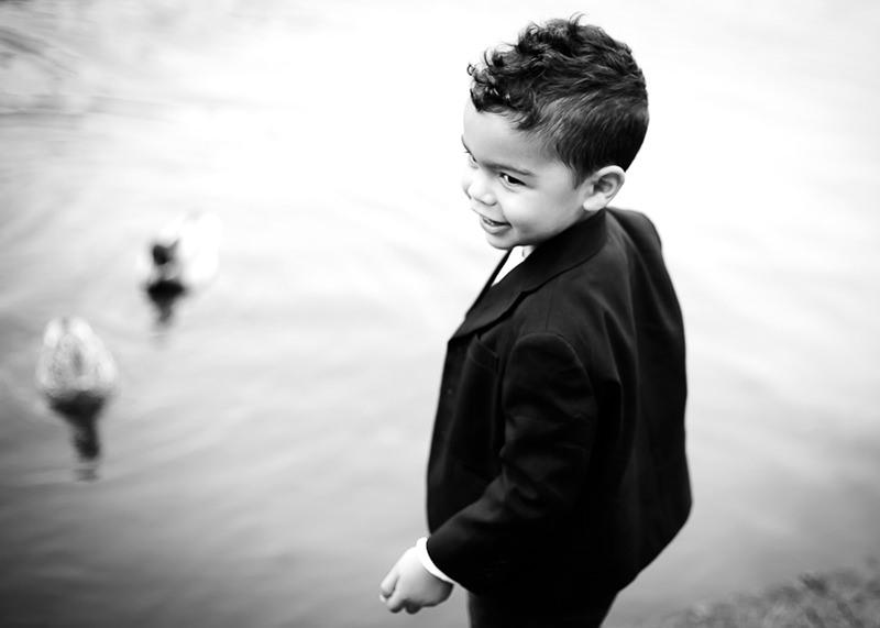 Photographe famille Lyon - Portrait noir et blanc