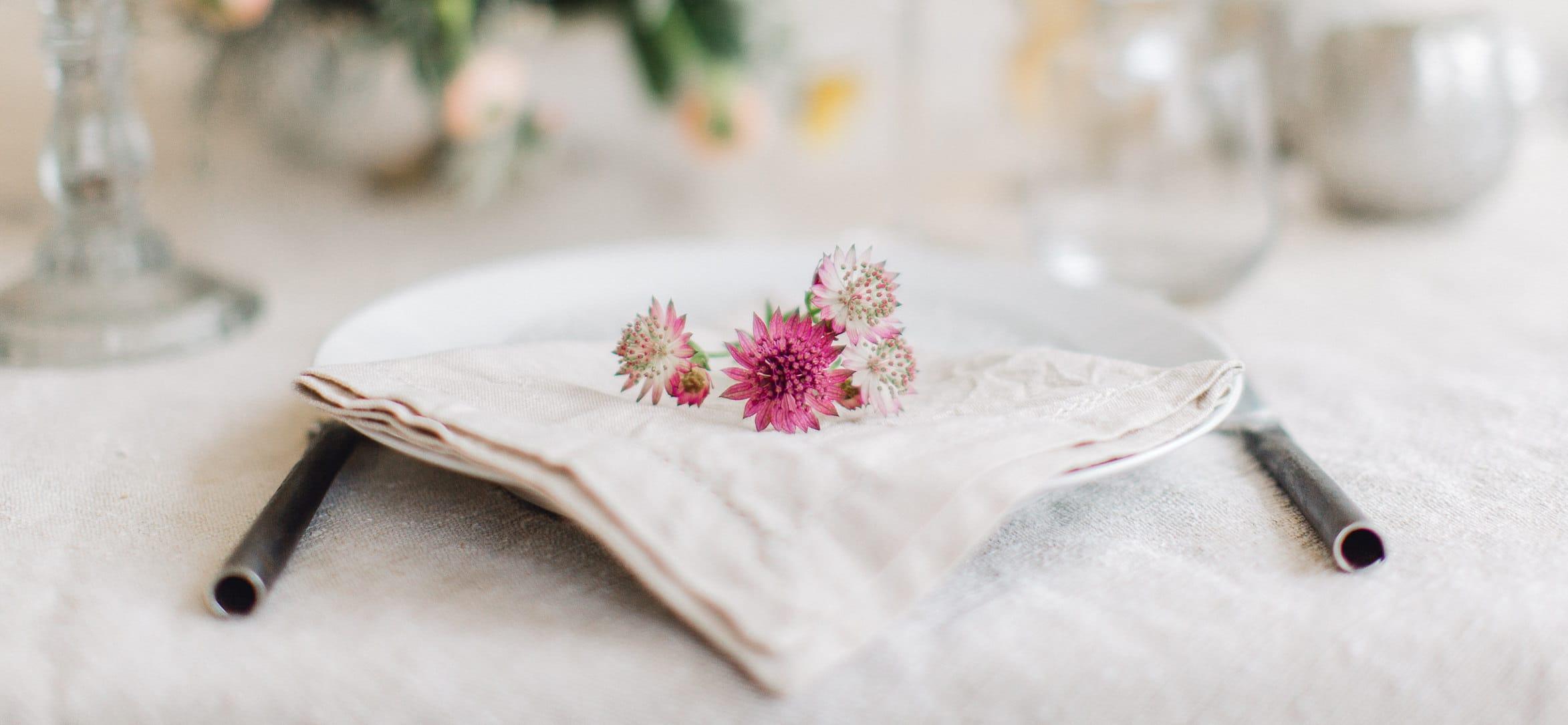 décoration pour table de mariage