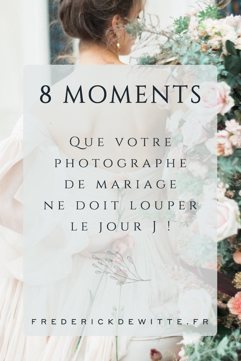 Vignette 8 moment a ne pas rater en photo le jour du mariage