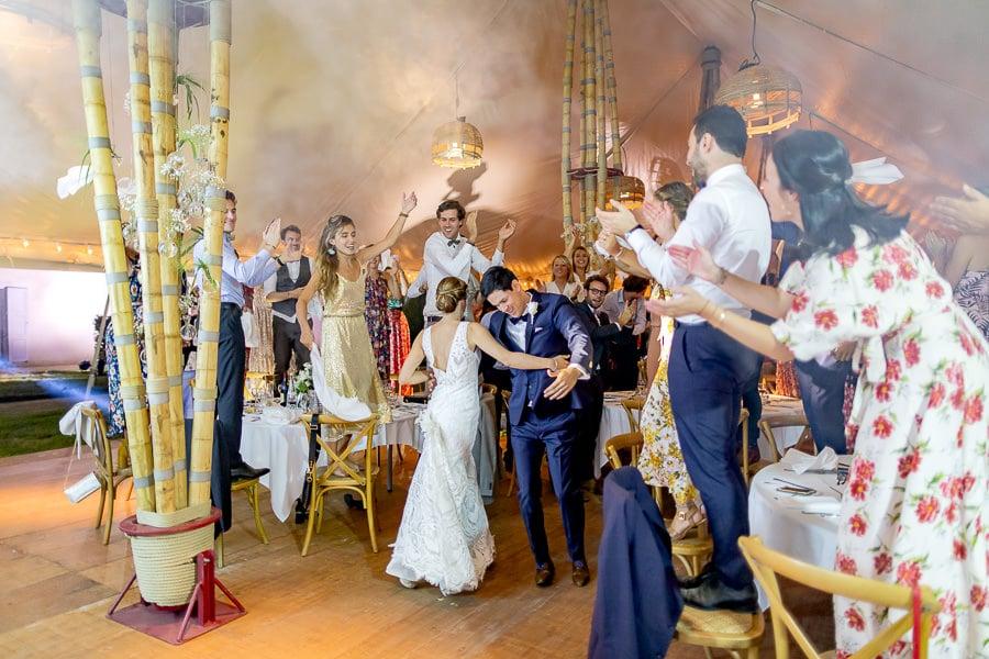 Photo soirée mariage la fête