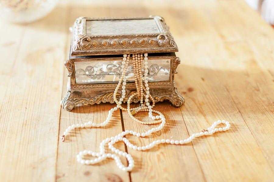 Boite à bijoux pour mariée