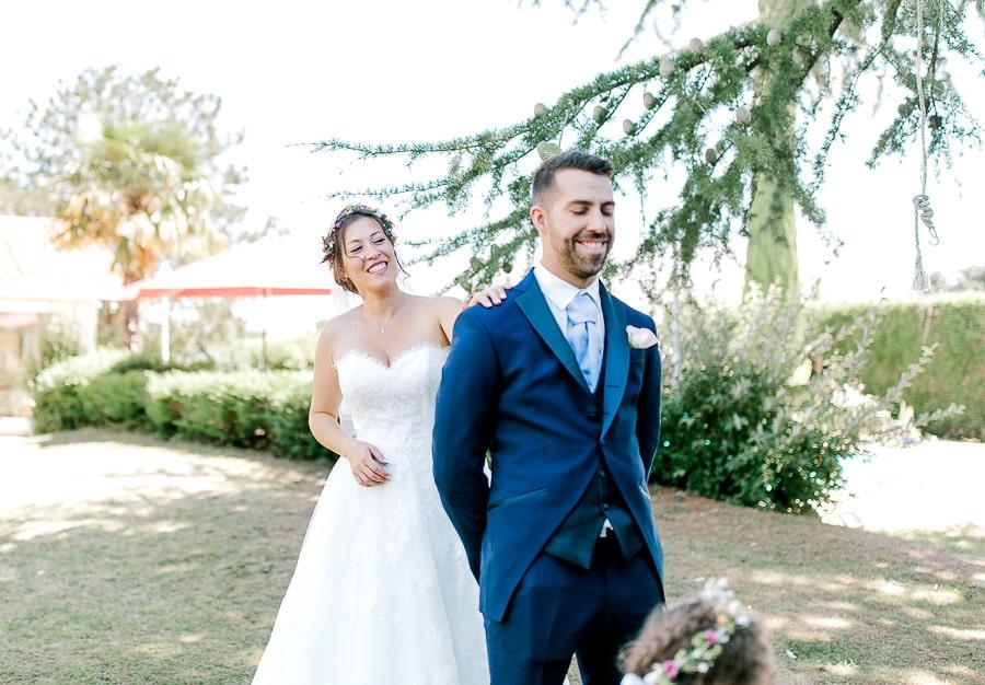 Premier regard mariée et marié