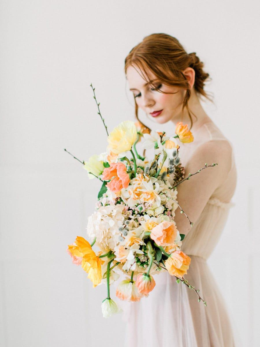 bouquet final de fleurs de la mariée
