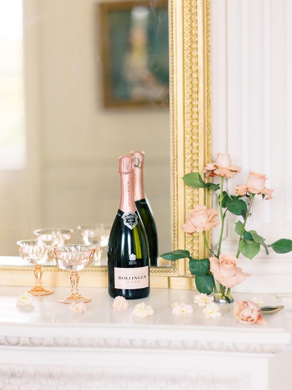 champagne pour mariage au château de varennes