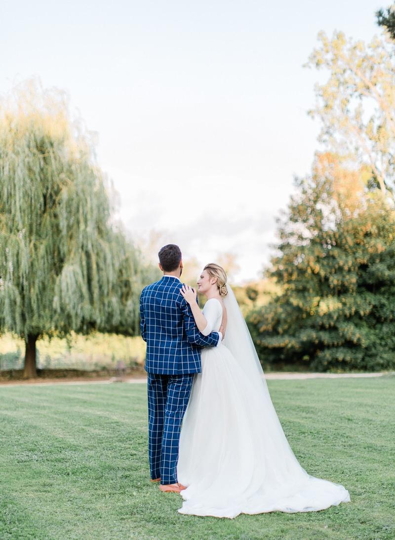 couple de marié au chateau du sou