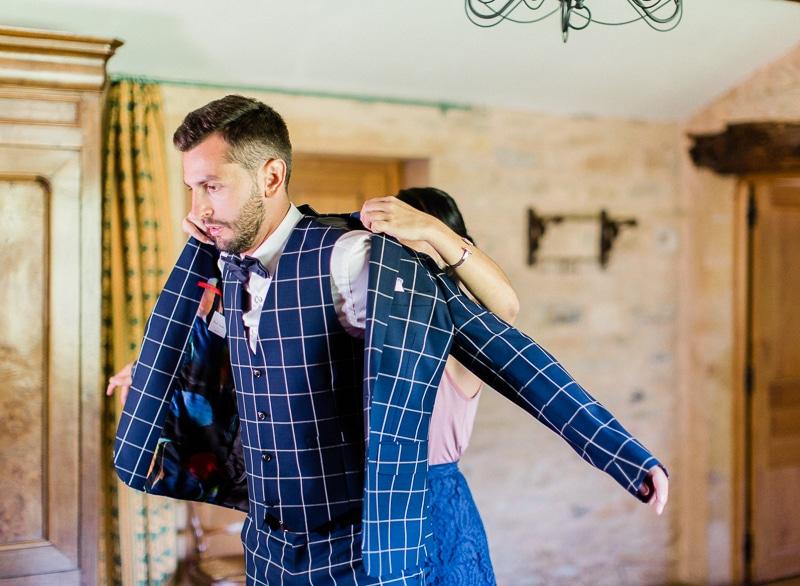 Costume du marié au chateau du sou